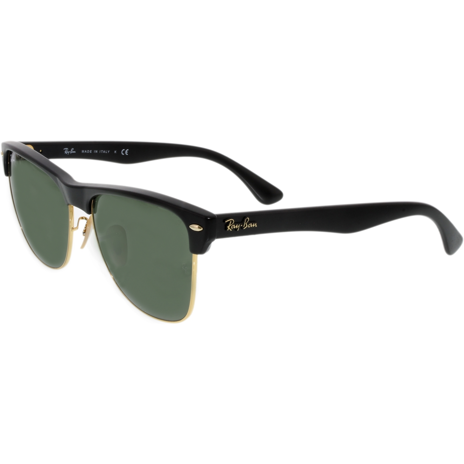 ray ban squared clubmaster  Ray-Ban Men\u0027s Clubmaster Oversized RB4175-877-57 Black Square ...