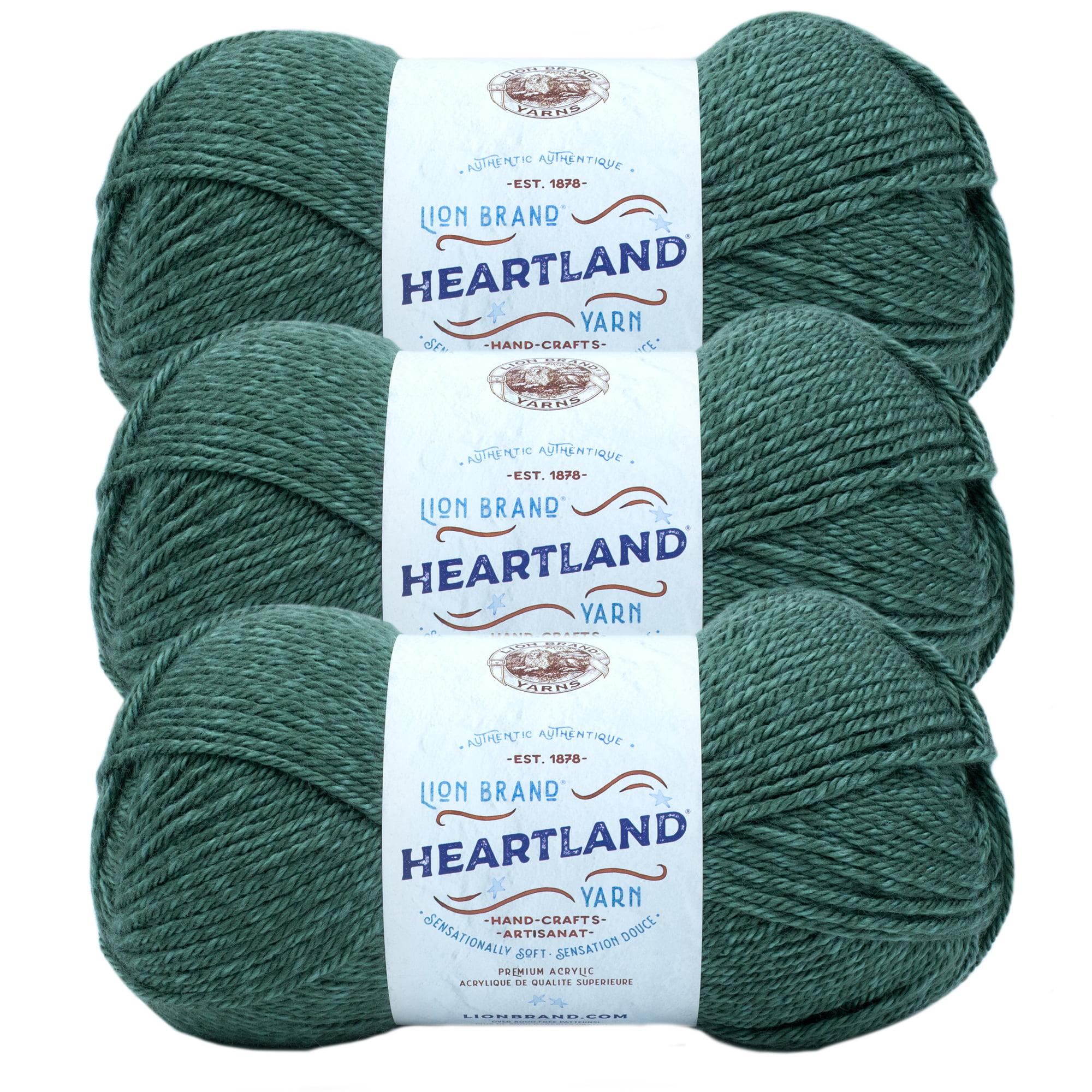 Lion Brand Yarn Heartland Rocky Mountains Basic Medium Acrylic Green Yarn 3 Pack Walmart Com Walmart Com