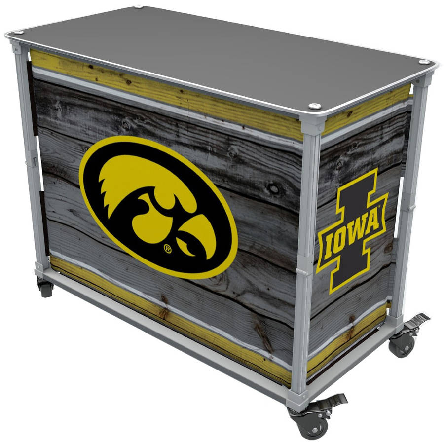 Rainmaker Hawkeyes Tailgate Station, Yellow by Rainmaker Imports