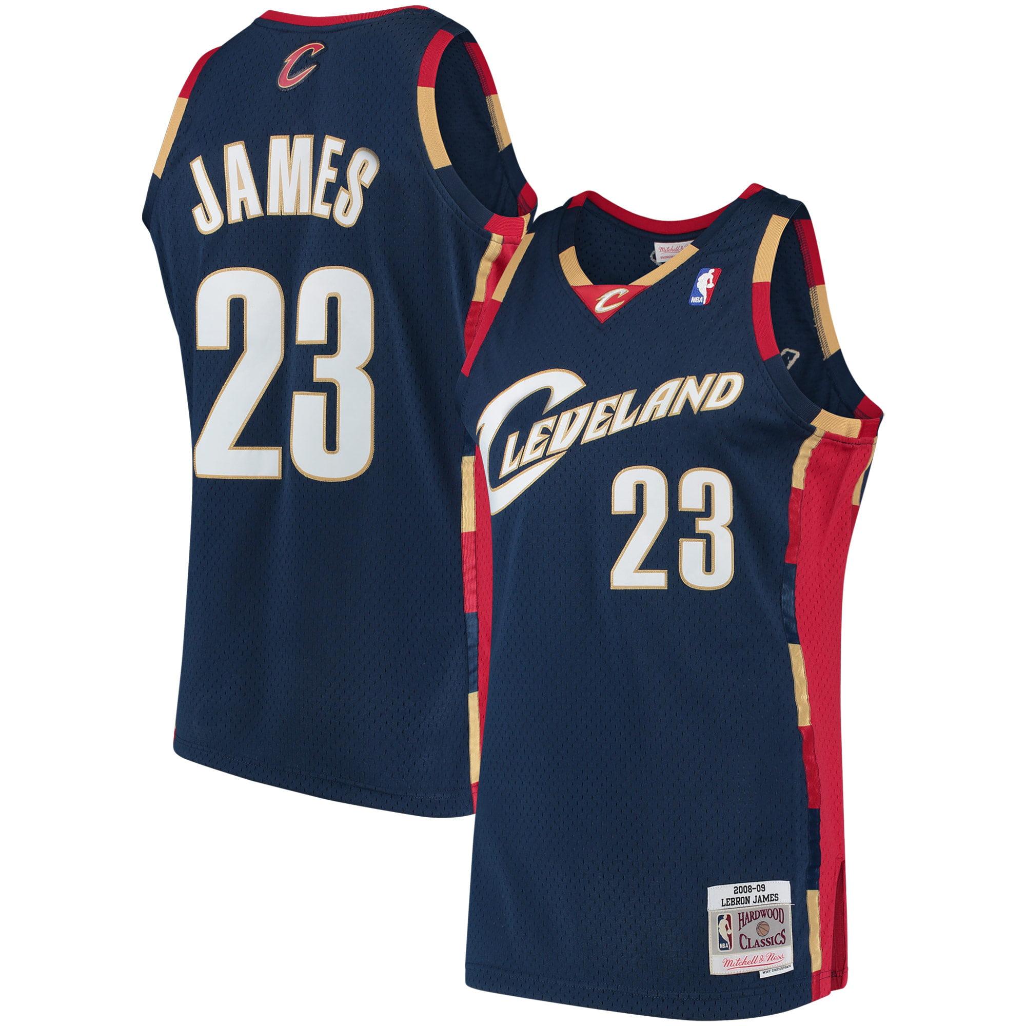 LeBron James Cleveland Cavaliers Mitchell & Ness 2008-09 Hardwood Classics Swingman Jersey - Navy