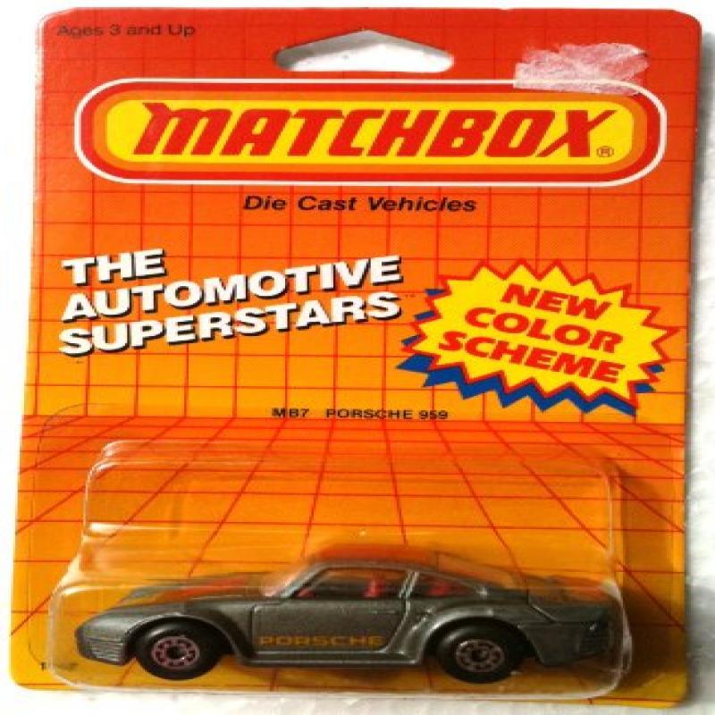 1987 Matchbox MB7 PORSCHE 959 Automotive Superstars Series (1:64 Diecast Car) by