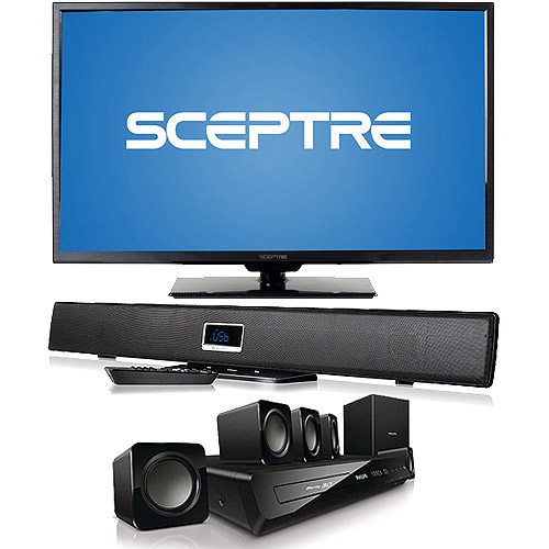 "SCEPTRE X325BV-FMDR 32"" LED Class 1080P HDTV with Home Theater System or Sound Bar and Optional Accessories"