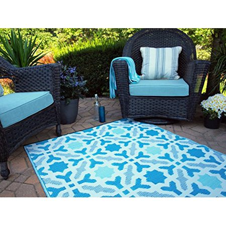 Fab Habitat Seville Multicolor Blue Indoor Outdoor