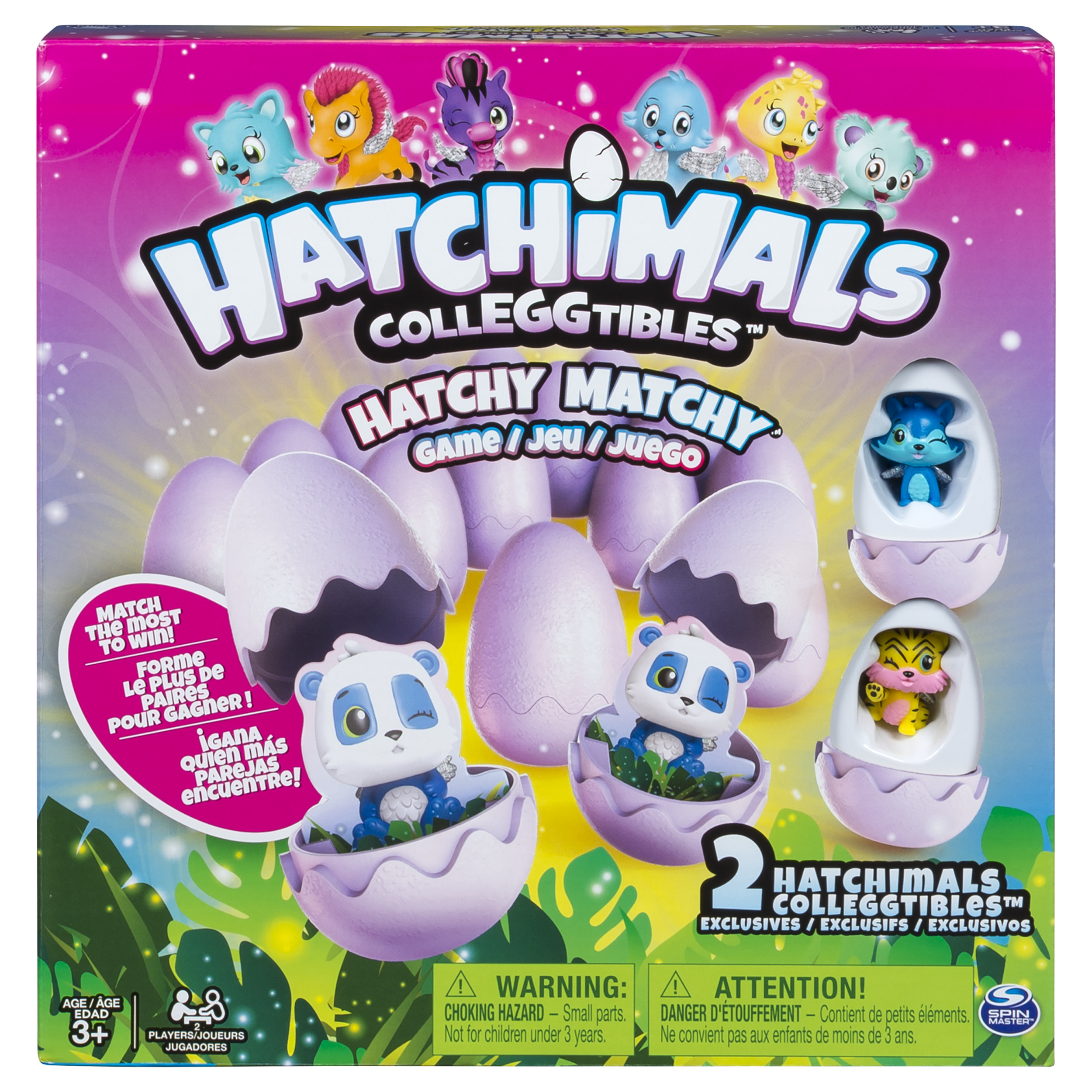 Hatchimals – Hatchy Matchy Game with Two Exclusive CollEGGtibles –Walmart Exclusive