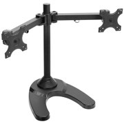 Mount Factory Dual Monitor Stand - Freestanding (up to 24 in. ) - Black