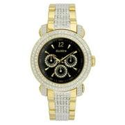 Men's Gents 3-Subdial Double Layer Watch, Goldtone