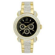 Men's Gents 3-Subdial Double Layer Watch, Goldtone