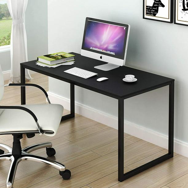 Shw Home Office 48 Inch Computer Desk Black Walmart Com Walmart Com
