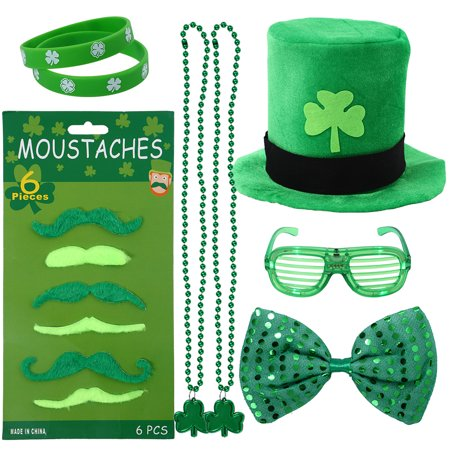 St Patrick's Day Accessories (33 pcs/ 13pcs Girl's Patrick's Day Dressing-up Accessories Set St. Patrick Day Party Favors Gift Set Festival Birthday Celebrate)