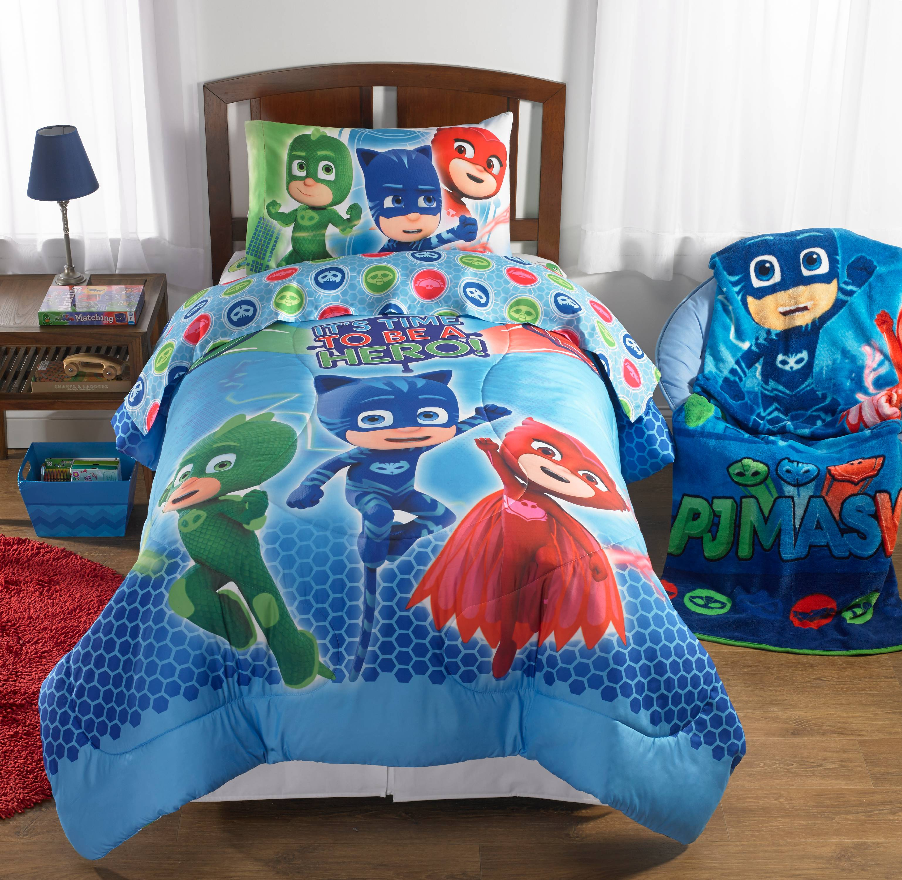 PJ Masks Bed in a Bag Bedding Set