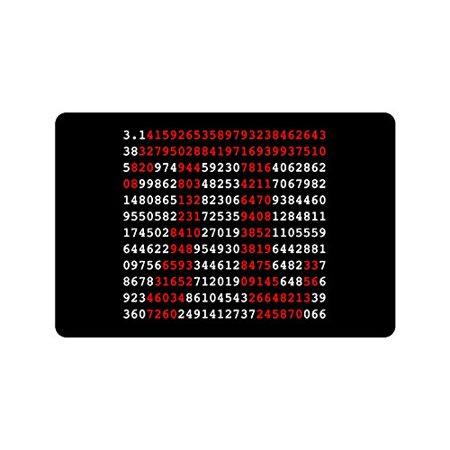 MKHERT Funny Pi Sign and Pi Numbers Mathematics Doormat Rug Home Decor Floor Mat Bath Mat 23.6x15.7