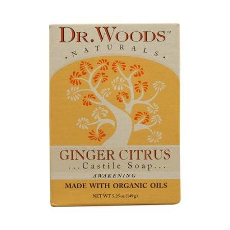 Dr. Woods Castile Bar Soap Ginger Citrus - 5.25 oz