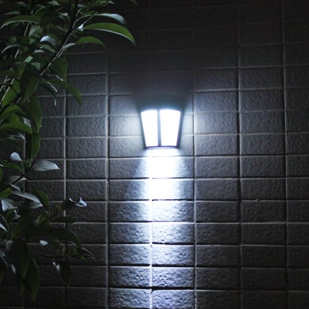 Solar Power LED Lights Outdoor Waterproof Wall Yard Path Way Garden Patio Lamp