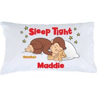Personalized Curious George Sleep Tight Pillowcase