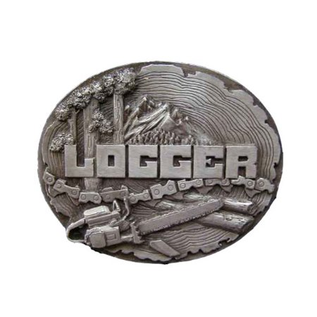 Logger Novelty Belt Buckle