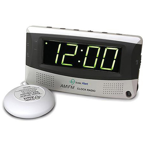 Sonic Alert Alarm Clock and AM/FM Radio with Super Shaker
