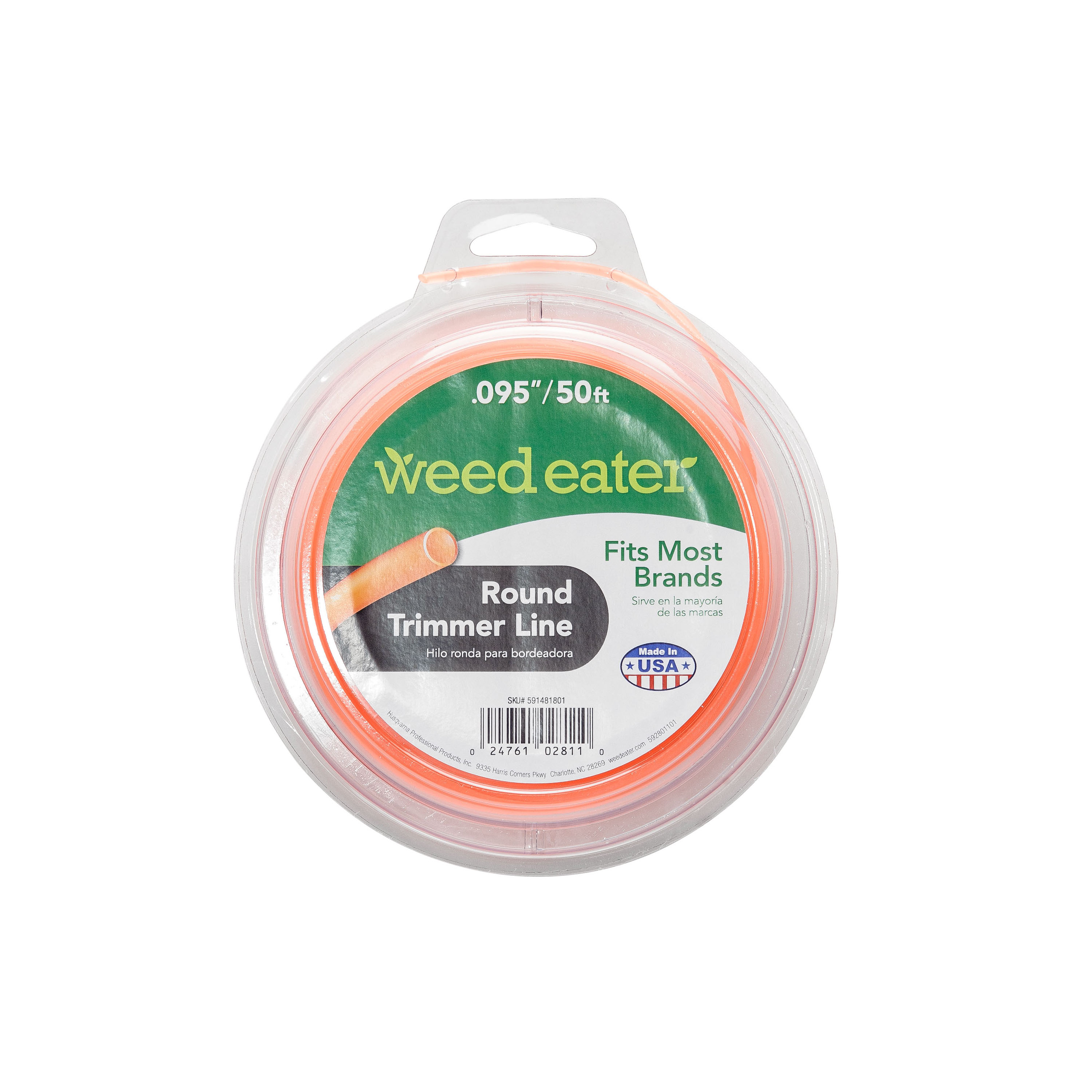 Weed Eater .095x50 Round Replacement String Trimmer Line