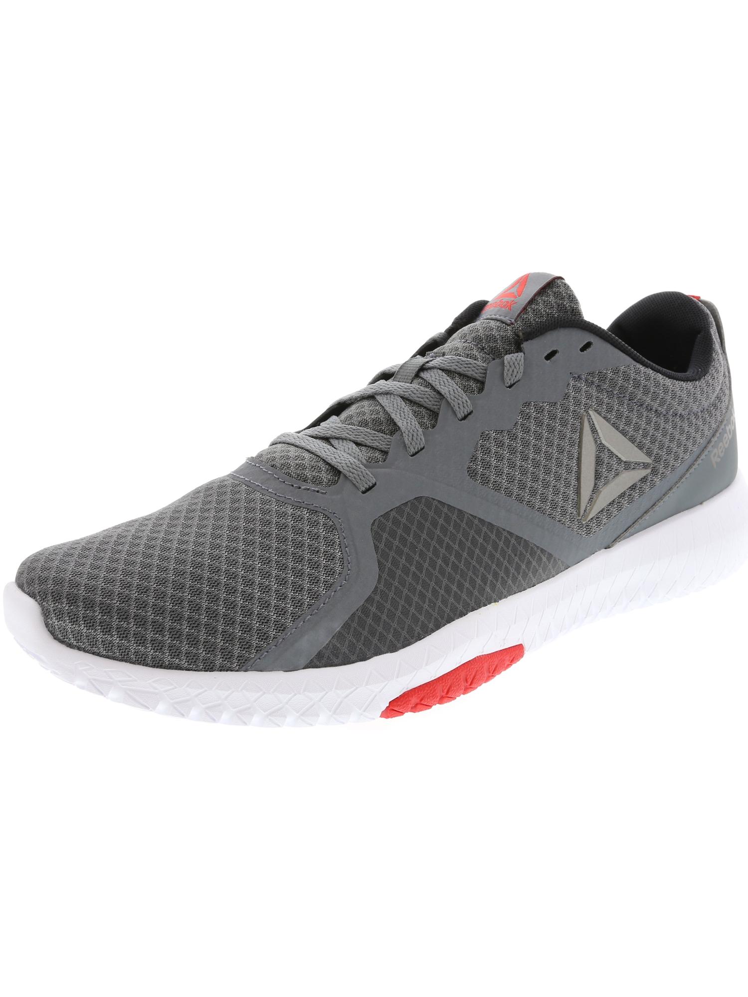 Reebok Men's Flexagon Force Cross Trainer Shoes (Alloy/White/Primal Red/Pewter/Black 1)