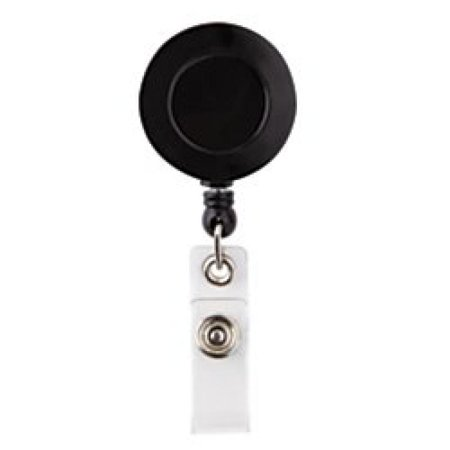 Office Depot Swivel Alligator Clip Badge Reel, Black, XS12035