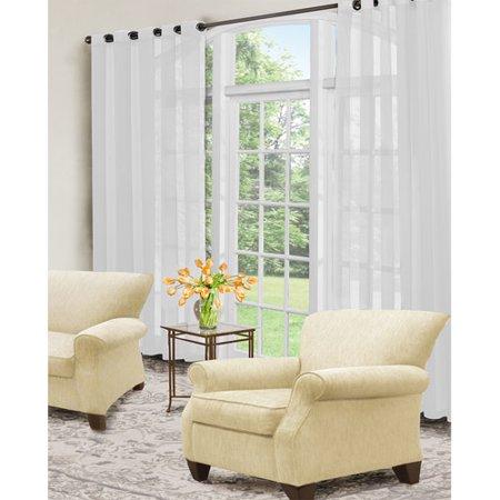 Curtain Fresh Odor-Neutralizing Sheer Voile Grommet Curtain Panel ()