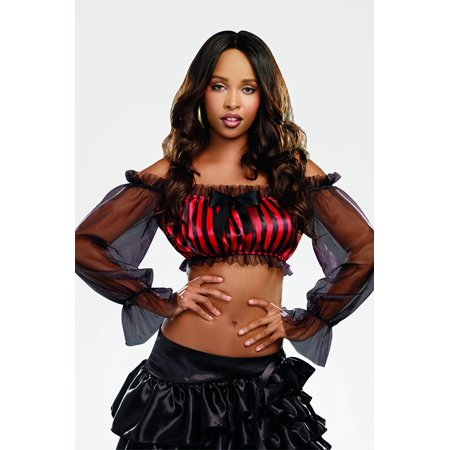Dreamgirl Striped Peasant Top Women's Costume