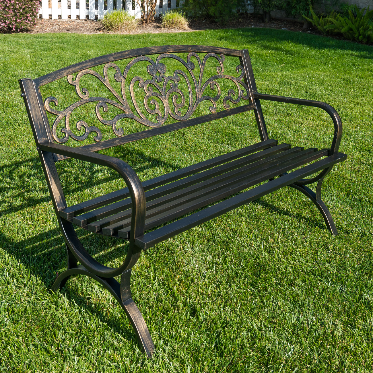 Belleze 50 Inch Garden Backyard Bench Patio Walmartcom