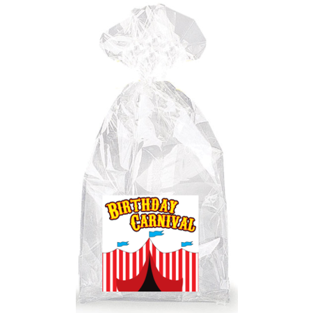 Birthday Carnival  Party Favor Bags with Ties - 12pack - Carnival Birthday