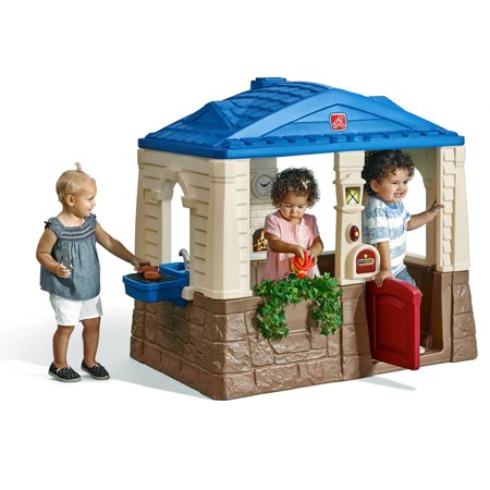 Step2 Neat & Tidy Cottage Playhouse, Blue