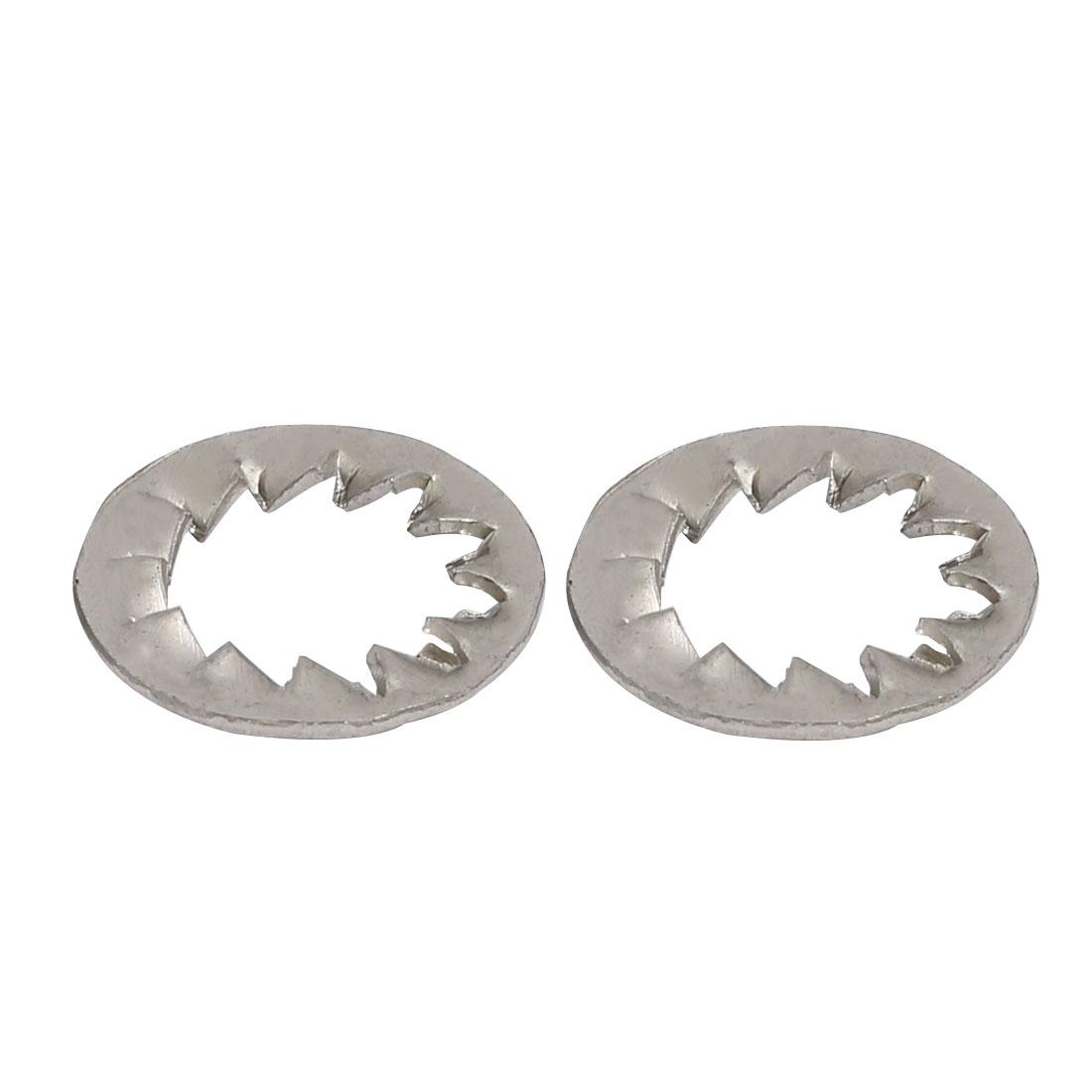 10mm Inner Dia 304 Stainless Steel Internal Serrated Lock Washers Gasket 50pcs - image 1 de 2