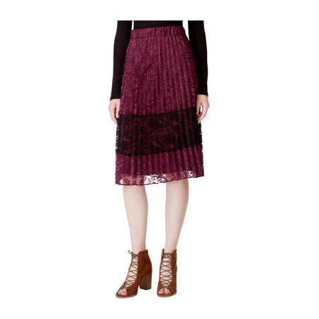 maison Jules Womens Lace Pleated Skirt savorywine S - image 1 of 1