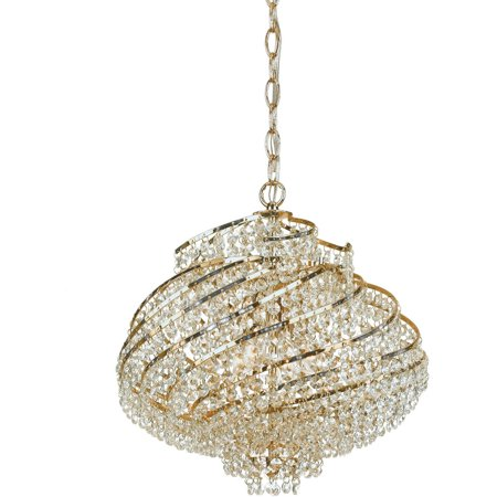 AF Lighting Lyric 4 Light Chandelier With Clear Glass