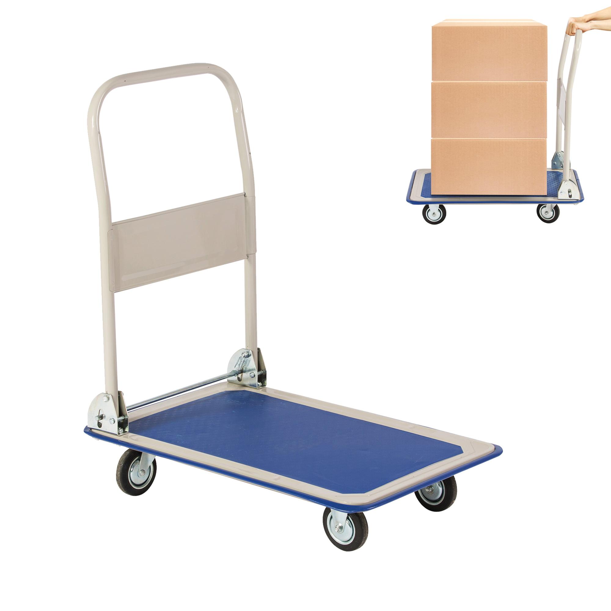 Karmas Product Platform Truck Hand Cart Dolly Folding Moving Push Heavy Duty Rolling Cart With 4 Wheels 330 Lbs Weight Capacity Walmart Com Walmart Com