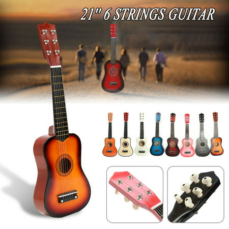 - 21'' Kids Toys Basswood Acoustic Guitar 6 String Practice Music Instruments Children Gifts 【5 Color】