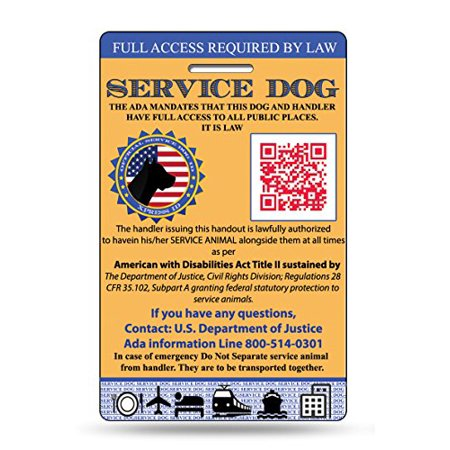XpressID Service Dog ID Card | Includes Registration to National Dog