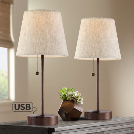 360 Lighting Modern Accent Table Lamps 18 1/4