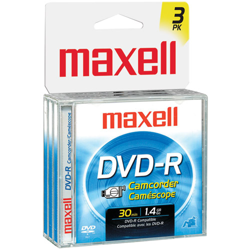 Maxell 8cm Write-Once DVD-R Removable Disc For DVD Camcorders - 3 Pack