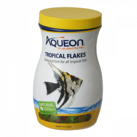 Aqueon Tropical Flakes Fish Food, 7.12oz
