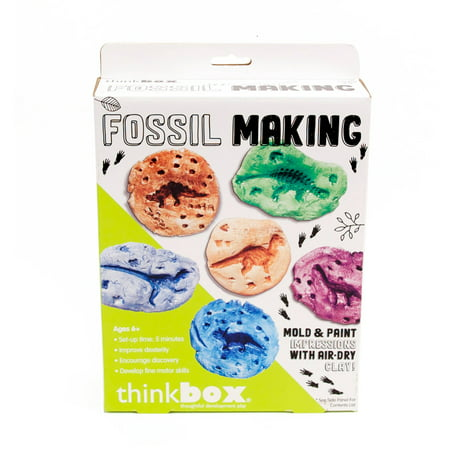 Horizon Group USA Think Box Fossil Making Dinosaur Activity Kit, 1 Each (Dinosaur Fossil Making Kit)
