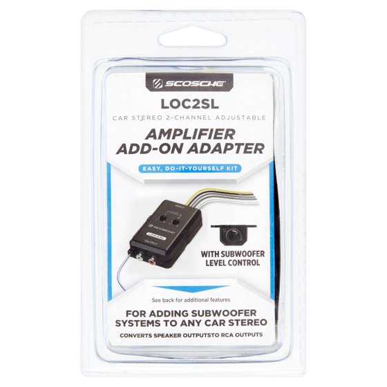 Scosche Car Stereo 2-Channel Adjustable Amplifier Add-On Adapter ...