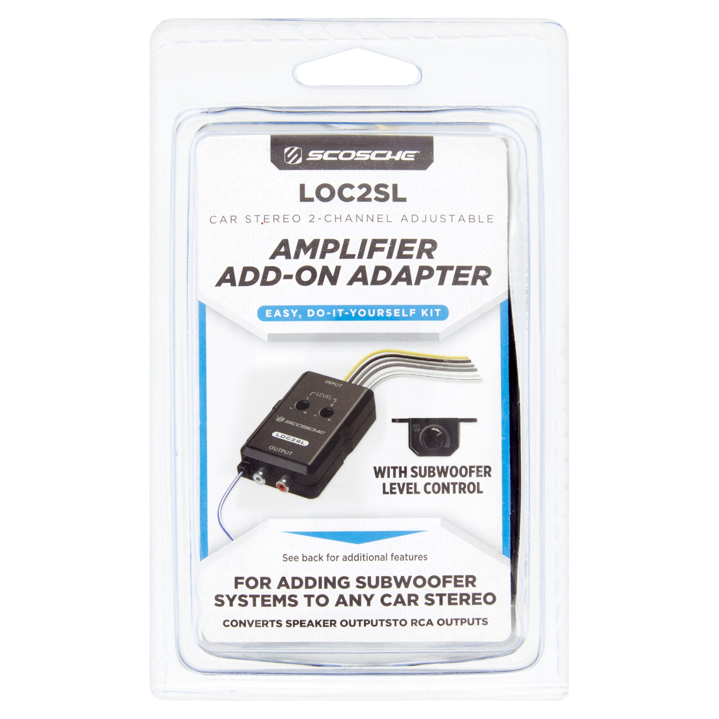 Scosche Car Stereo 2-Channel Adjustable Amplifier Add-On Adapter
