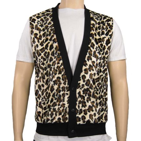 Cheetah Print Vest Men's