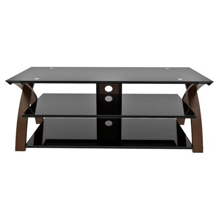 Line Mounting - Z-Line Willow TV Stand with Optional Mounting Kit - Warm Espresso