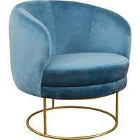 Tov Furniture TOV-S3801 Bella Velvet Chair - Blue