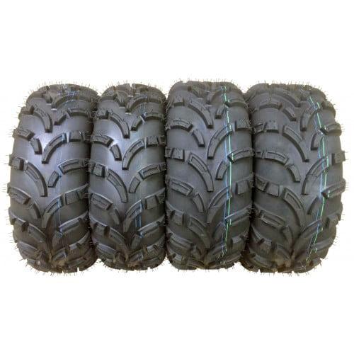 Set of 4 WANDA ATV/UTV Tires 26x9-12 Front & 26x10-12 Rear /6PR - 10258/10259