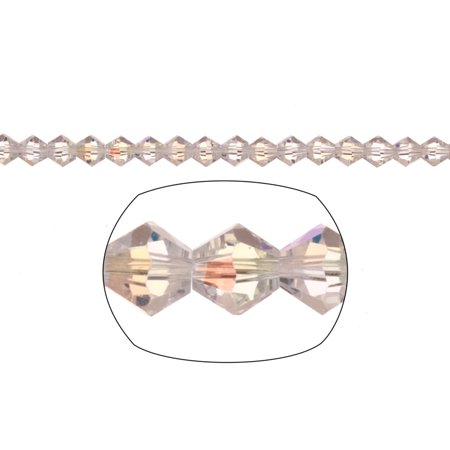 Bicone Crystal Beads Clear Ab Faceted xilion Crystal For Jewelry Making mm 90Cnt (Facetted Bicone)