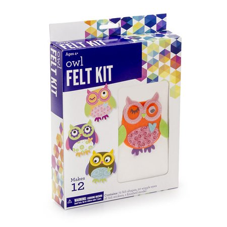 Darice Felt Owl Kit, 1 Each