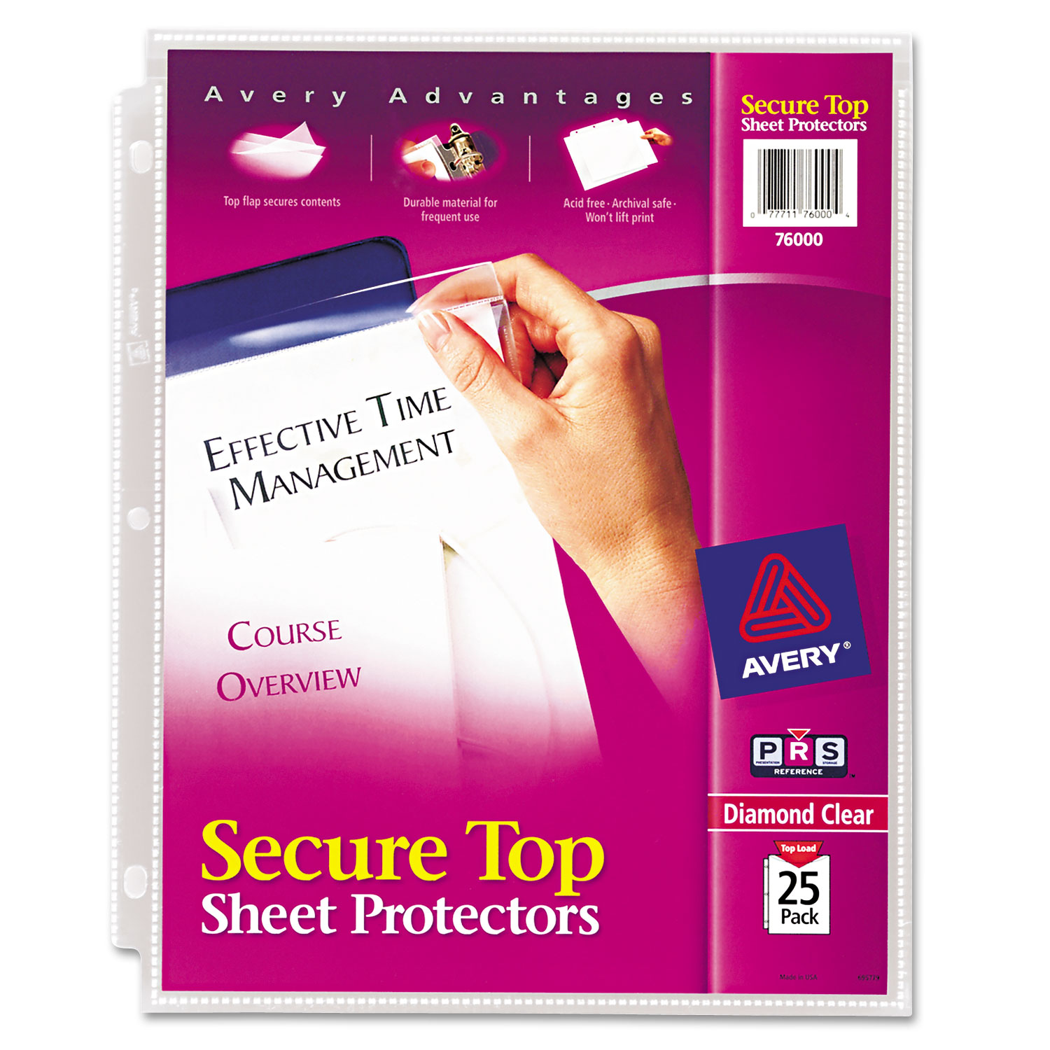 How to scrapbook without page protectors - Avery Secure Top Sheet Protectors Super Heavy Gauge Letter Diamond Clear 25 Pack Walmart Com