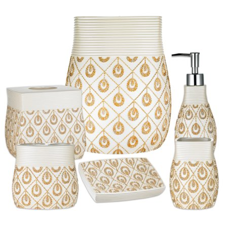 Popular Bath Seraphina Bathroom 6 Piece Bath Accessory Set