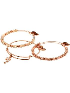 Alex And Ani Candy Cane Rose Gold One Size Bracelet A17SETCCSR