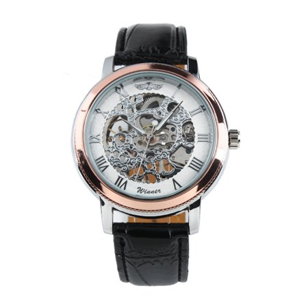 Luxury High Class Automatic Mechanical Men Watch Retro Vintage Rose Golden Black